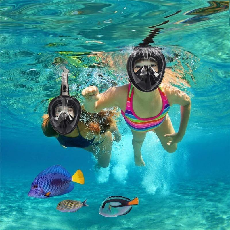 Full Face Snorkel Mask With GoPro Mount Underwater Scuba Diving Mask