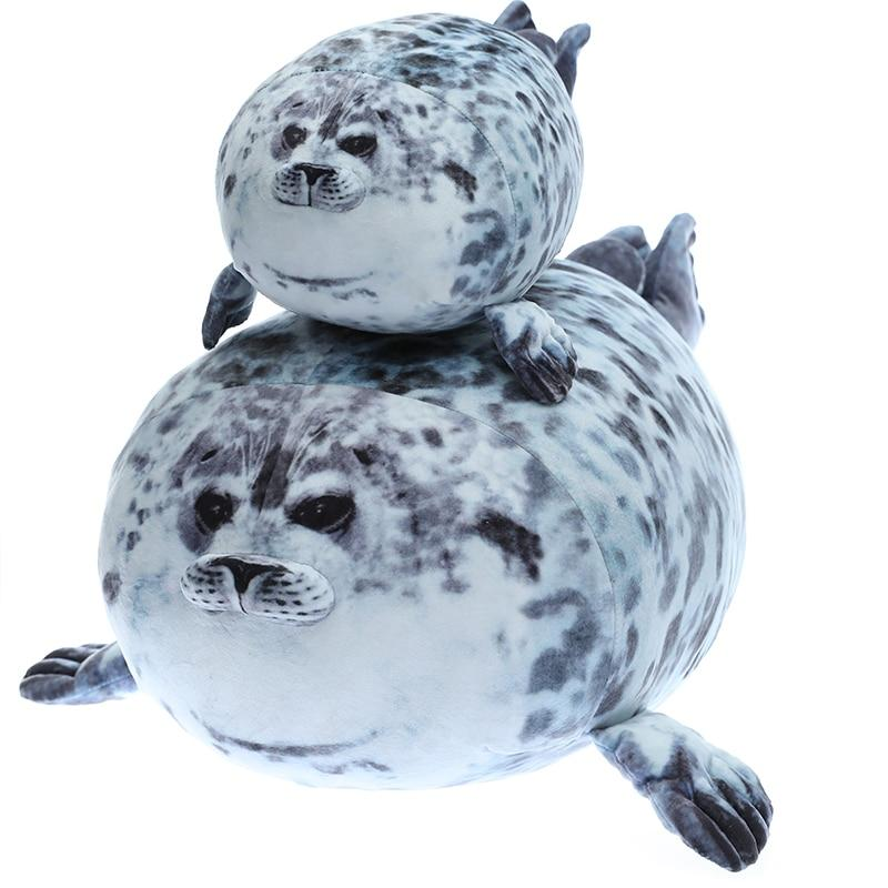 Giant 3D Blob Seal Pillow Soft Hugging Stuffed Cotton Plush Animal Toy - Stuffed & Plush Animals