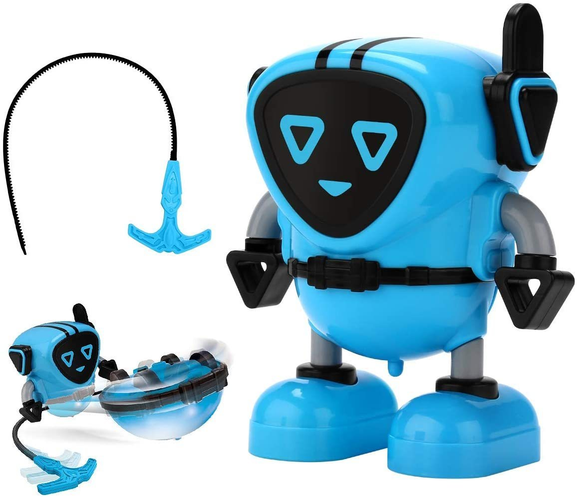 GyroBot - Multi-Action Transforming Spinning Top Gyro Force Robot Toy - Blue - Spinning Tops