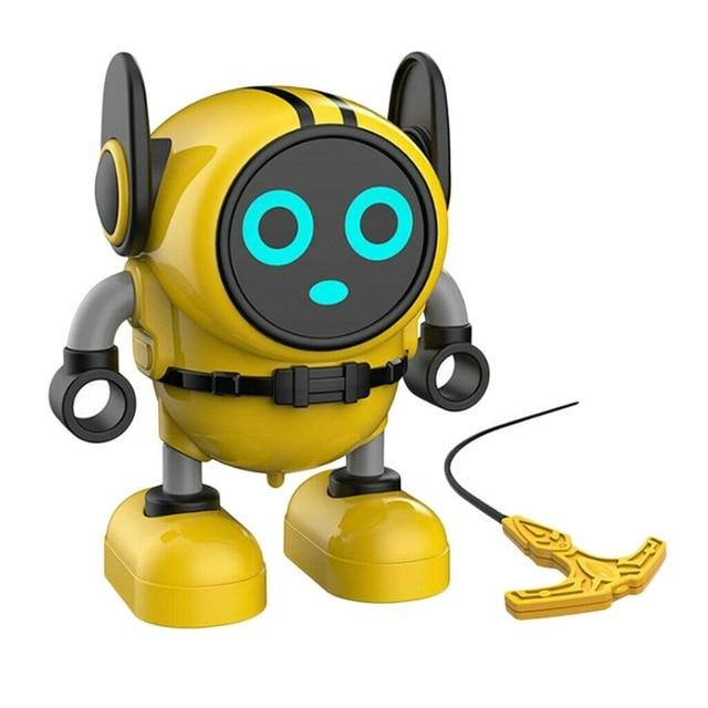 GyroBot - Multi-Action Transforming Spinning Top Gyro Force Robot Toy - Yellow - Spinning Tops