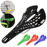 Hollow Spider Web Saddle Suspension Bike Seat - Super Light Bicycle Saddle Seat Cushion - Black - Bicycle Saddle