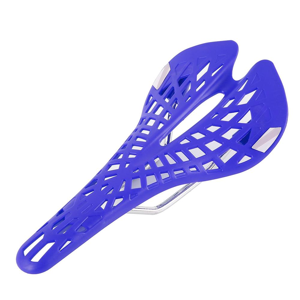Hollow Spider Web Saddle Suspension Bike Seat - Super Light Bicycle Saddle Seat Cushion - Blue - Bicycle Saddle