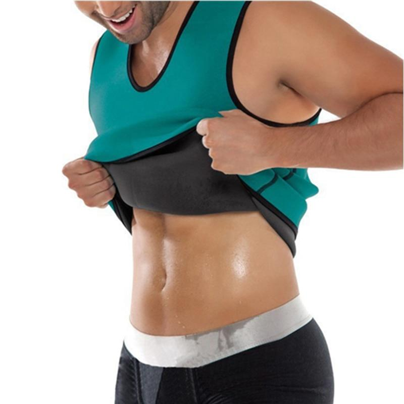 Hot Sweat Sauna Waist Trainer Vest Body Shaper Slimming Vest For Men - Green / S - Shapers
