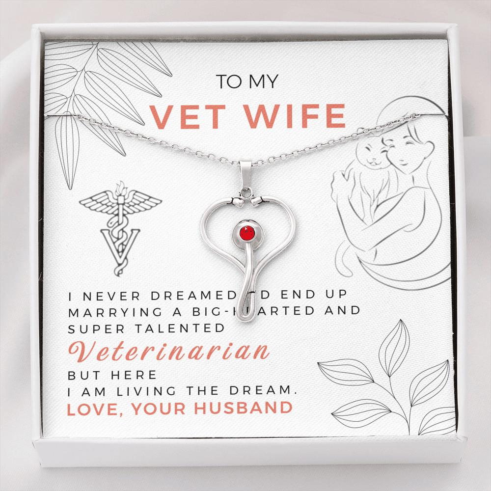 I Never Dreamed - Stethoscope Necklace For Veterinarian Wife Doctor - Jewelry