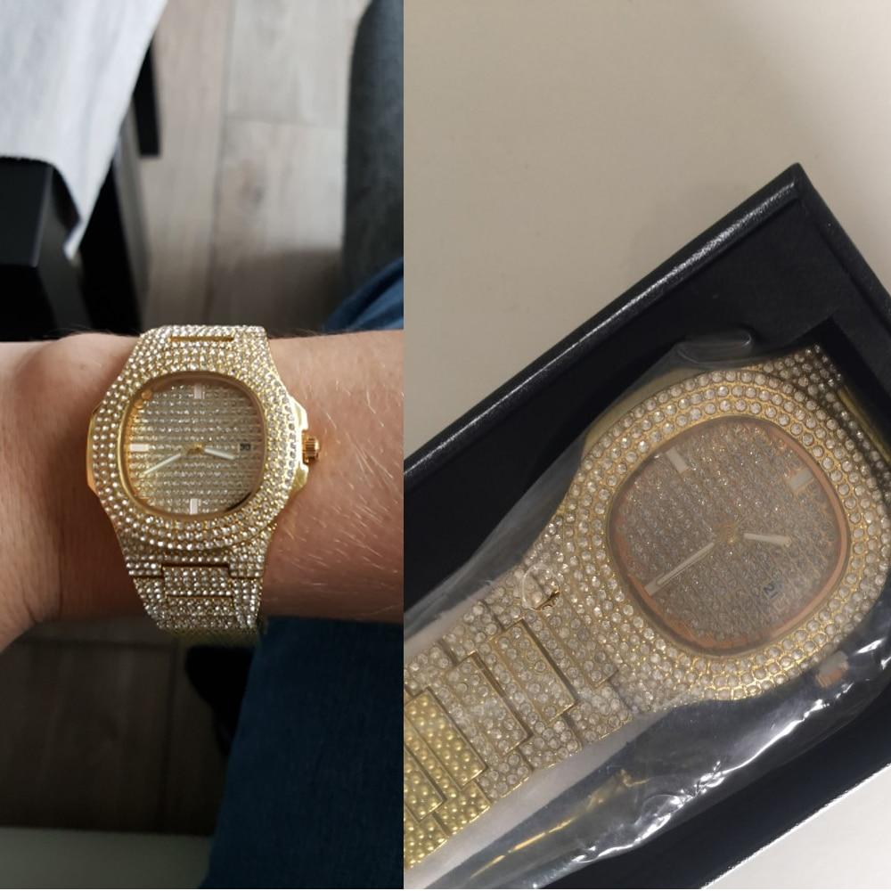 ICE-Out Bling Diamond Watch For Men and Women Hip Hop Luxury Watch