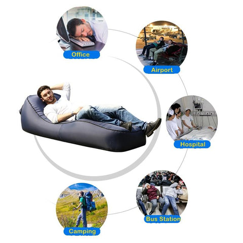 Super Inflatable Camping Air Lounger Lazy Beach Sleeping Sofa Pabps2019 Chair Design Images Pabps2019Com