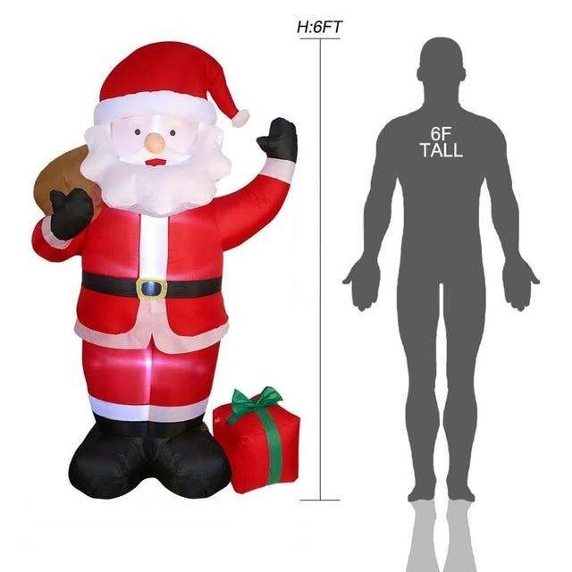 Inflatable Giant Lighted Santa Claus Figure Outdoor Garden Christmas Party Decoration - Santa B / US