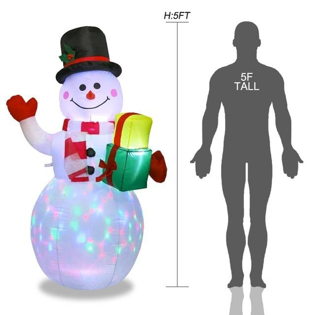 Inflatable Giant Lighted Santa Claus Figure Outdoor Garden Christmas Party Decoration - Snowman / US