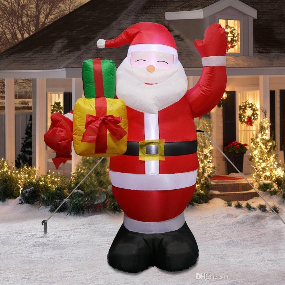 Inflatable Giant Lighted Santa Claus Figure Outdoor Garden Christmas Party Decoration