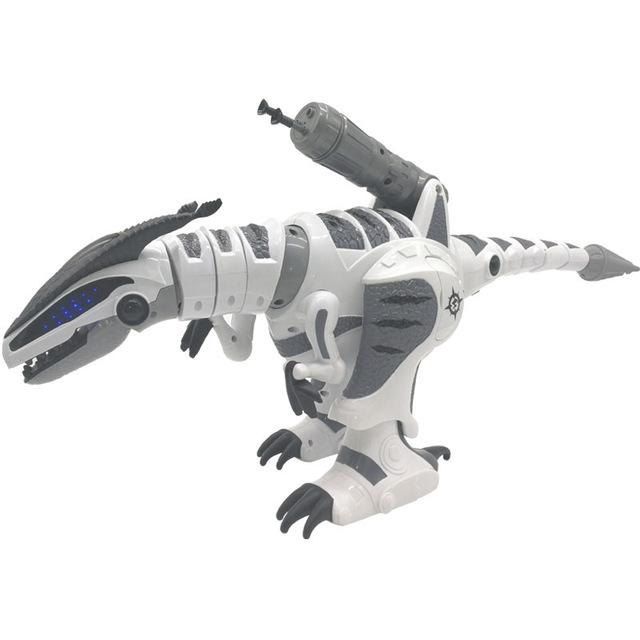 Intelligent RC Robot Dinosaur - Mechanical Interactive Remote Control Dinosaur Toy - WHITE