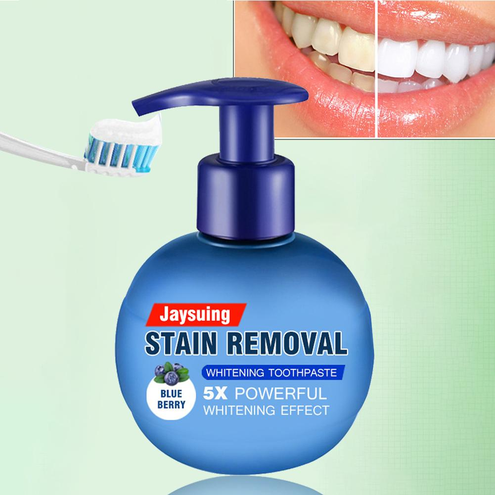 Intensive Stain Removal Whitening Toothpaste - Baking Soda Tooth Cleaning - Blueberry - Toothpaste