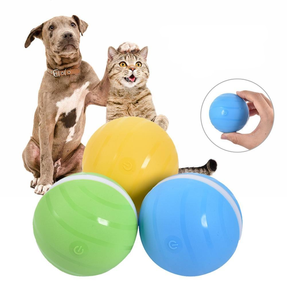 Interactive Smart Moving Dog Cat Puppy Toy Roller Ball Pet Toy For Bored Puppies Kittens - Dog Toys