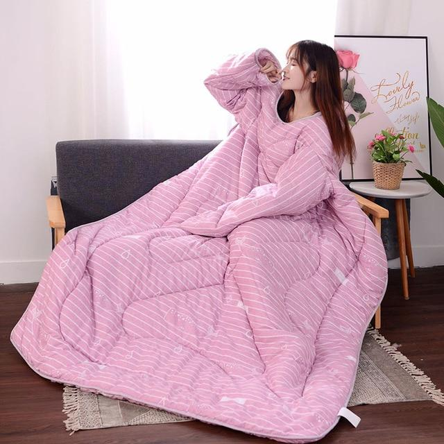 Lazy Winter Sleeved Quilt Cozy Blanket - 150X200Cm / Pink Fish - Quilts