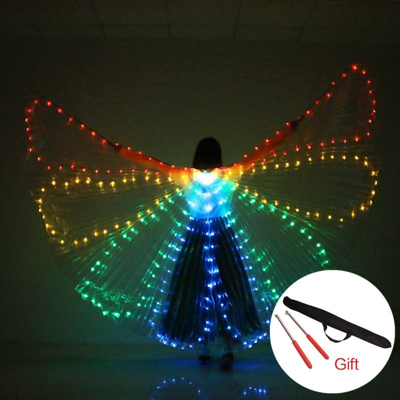 Light Up Colorful LED Butterfly Isis Wings Dance Performance Costume Cosplay Prop - Belly Dancing