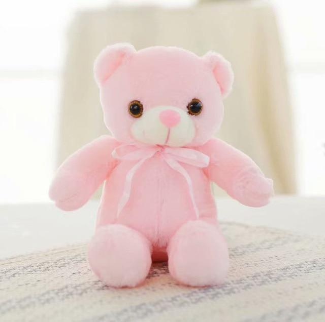 Light Up Glowing Teddy Bear Plush Animal Toy - 30cm Pink LED