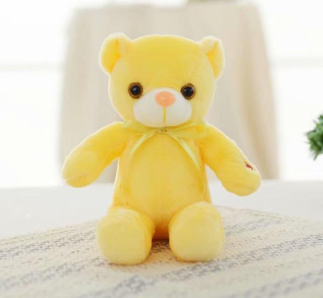 Light Up Glowing Teddy Bear Plush Animal Toy - 30cm Yellow LED