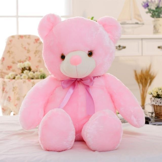 Light Up Glowing Teddy Bear Plush Animal Toy - 50cm Pink LED