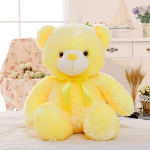 Light Up Glowing Teddy Bear Plush Animal Toy - 50cm Yellow LED