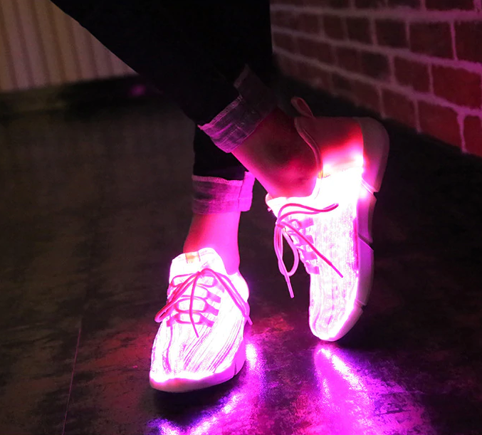 Luminous Light Up Shoes - LED Glowing Light Up Sneakers For Kids & Adults - Pink / 1