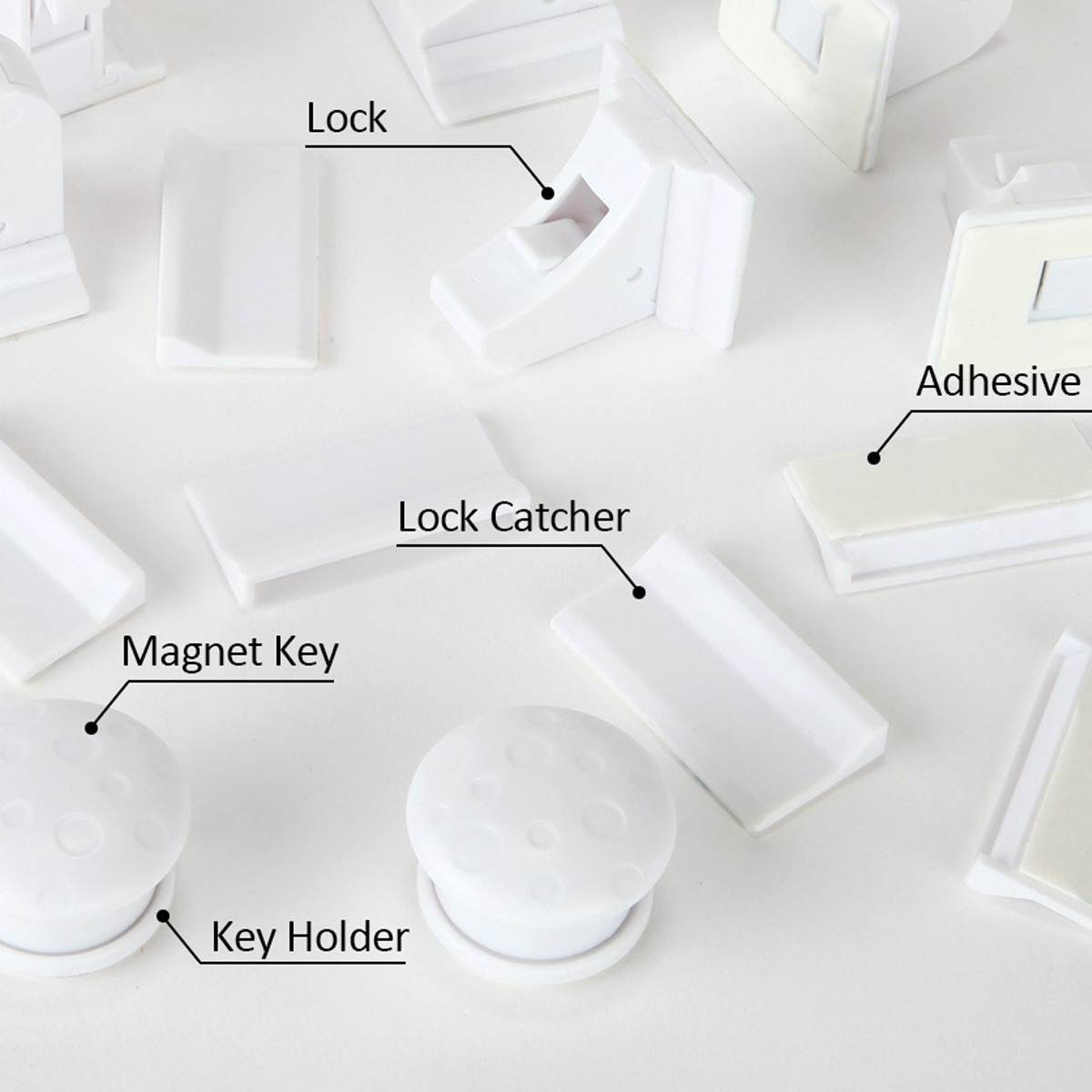 Magnetic Cabinet Locks - Child Safety Drawer Locks - Baby Proof