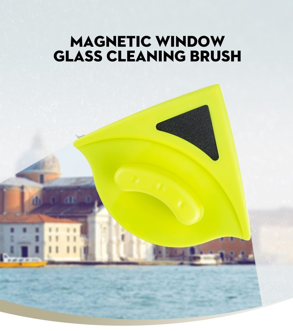 Magnetic Window Cleaner - Double Sided Glass Cleaner - Cleaning Brushes