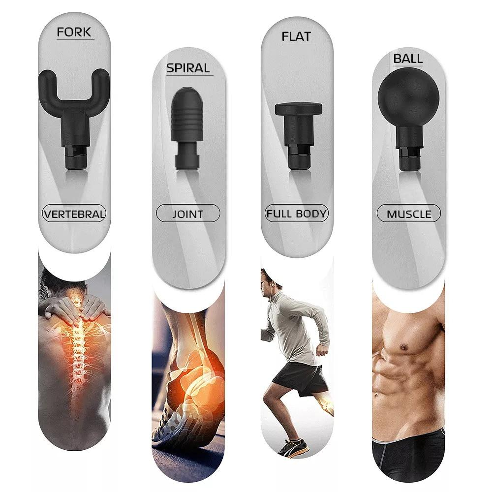 Massage Gun Full Body Massager Exercising Muscle Pain Relief Vibration Therapy - Massage & Relaxation