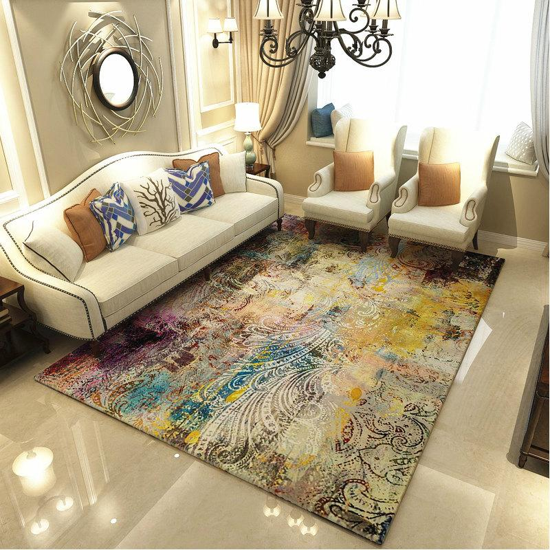 Modern Art Carpets For Living Room - Abstract Area Rugs For Bedroom Home Decor - BO-14 / 120x160 cm/47x63 inch - Rugs