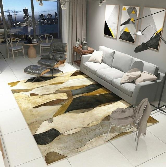 Modern Art Carpets For Living Room - Abstract Area Rugs For Bedroom Home Decor - BO-33 / 120x160 cm/47x63 inch - Rugs