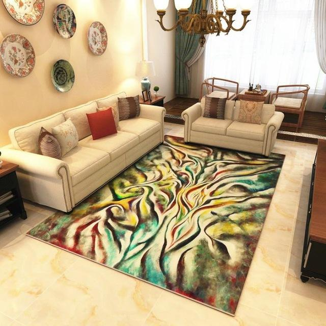 Modern Art Carpets For Living Room - Abstract Area Rugs For Bedroom Home Decor - BO-42 / 120x160 cm/47x63 inch - Rugs
