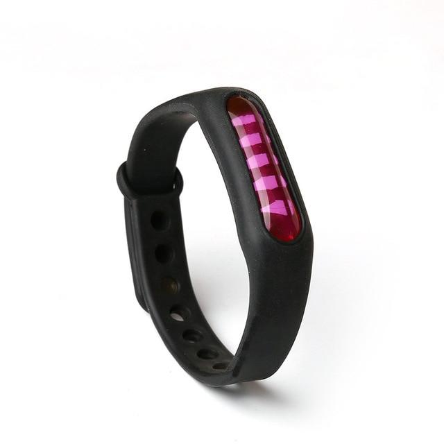 Mosquito Repellent Bracelet Insect Bug Repellent Silicone Wristband - Black - Repellents