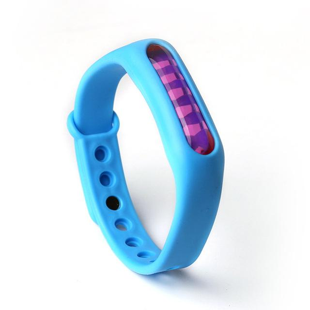 Mosquito Repellent Bracelet Insect Bug Repellent Silicone Wristband - Blue - Repellents