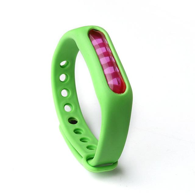 Mosquito Repellent Bracelet Insect Bug Repellent Silicone Wristband - Green - Repellents