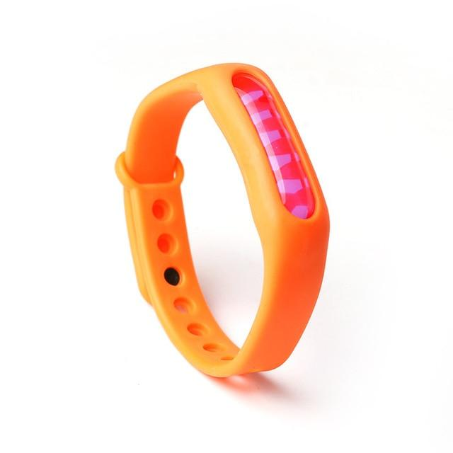 Mosquito Repellent Bracelet Insect Bug Repellent Silicone Wristband - Orange - Repellents