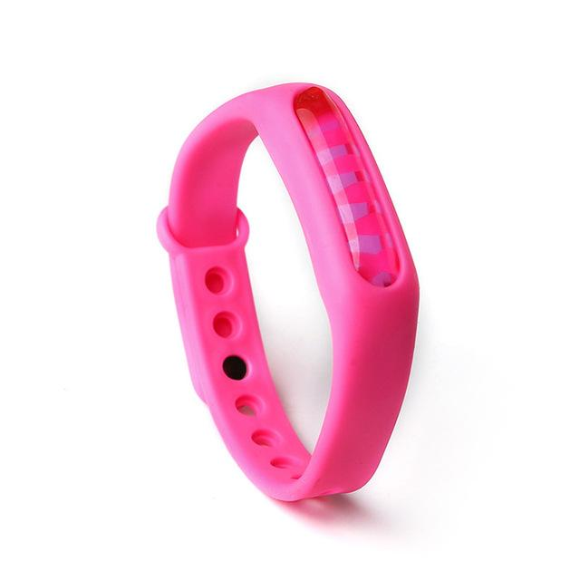 Mosquito Repellent Bracelet Insect Bug Repellent Silicone Wristband - Rose red - Repellents
