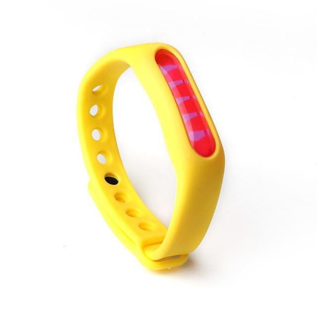 Mosquito Repellent Bracelet Insect Bug Repellent Silicone Wristband - Yellow - Repellents