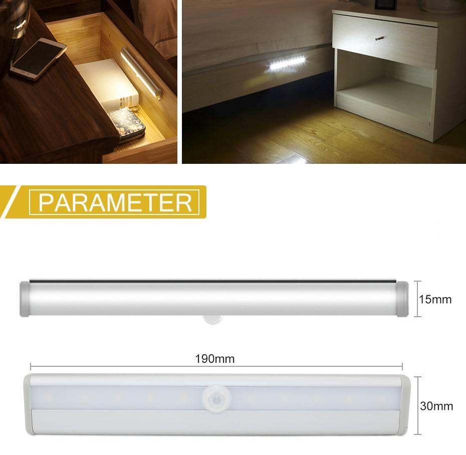 Motion Sensor LED Cabinet Light Wardrobe Kitchen Light