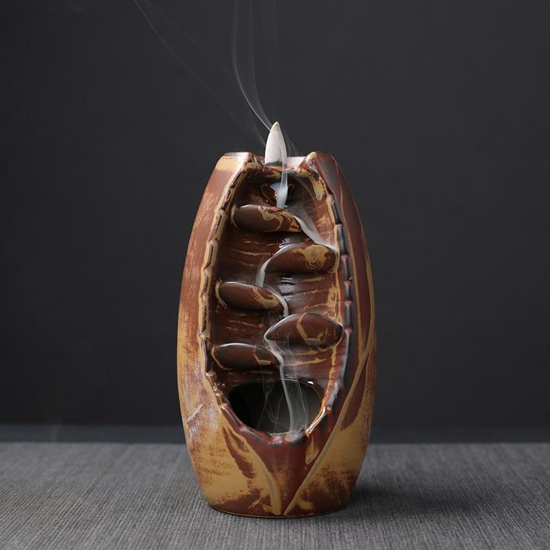 Mountain River Waterfall Backflow Incense Burner - Variant 2