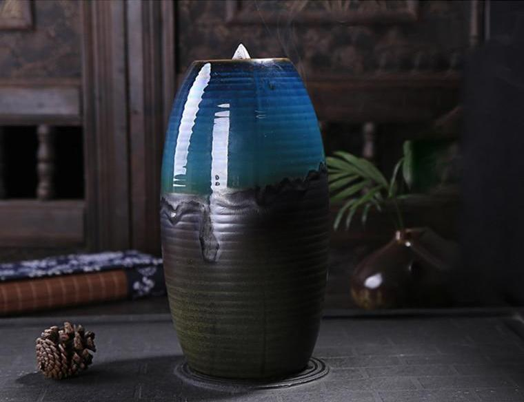 Mountain River Waterfall Backflow Incense Burner