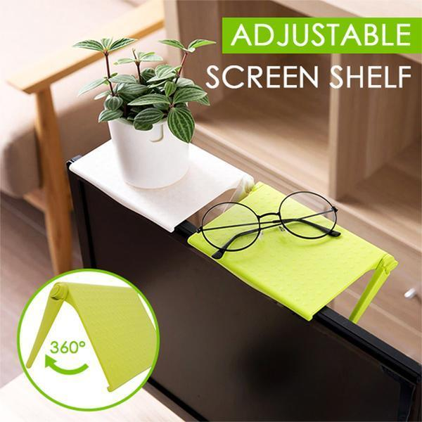 Multifunctional Adjustable Screen Shelf - Home & Office Storage Rack Clip