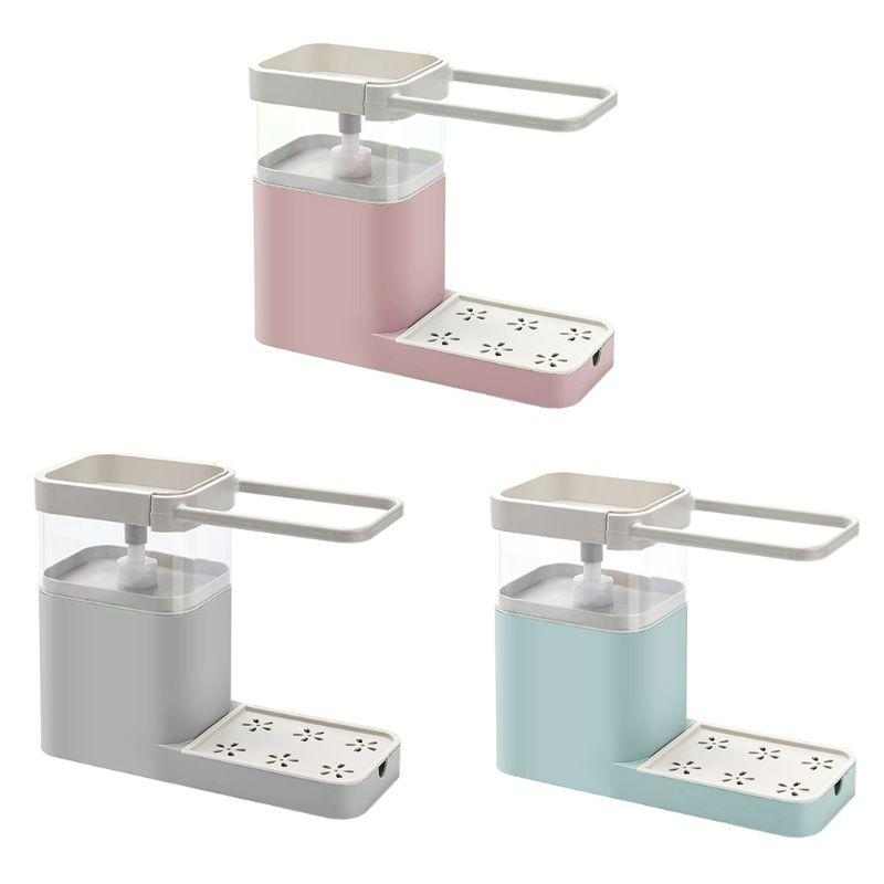 Multifunctional Kitchen Cleaning Soap Dispenser Combination Rack - Cleaning Tool