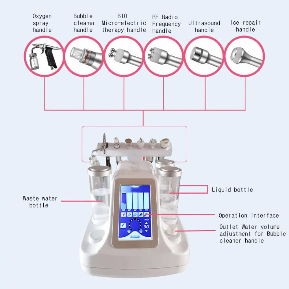 Multifunctional Ultrasonic Hydro Microdermabrasion RF Oxygen Spray Deep Cleansing Facial Machine - Massage & Skin Care Machine