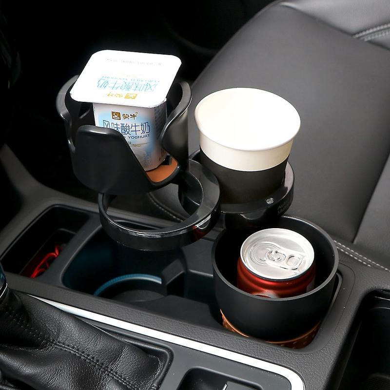 Multipurpose 5 in 1 Car Cup Holder - Black