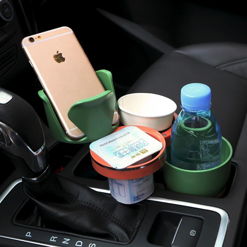 Multipurpose 5 in 1 Car Cup Holder - Green