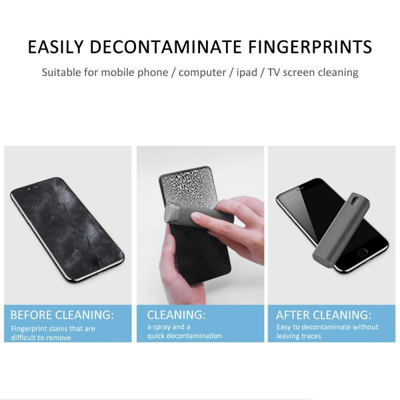 OneSwipe - Portable Hygienic Mobile PC Monitor Screen Cleaner Microfiber Cloth Set - Glass Cleaner
