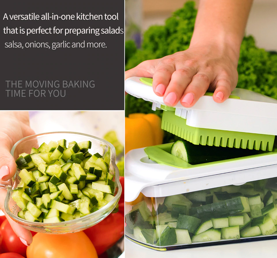 Onion Chopper Pro Vegetable Slicer - Nicer Dicer Quick Hand Held Chopping Machine