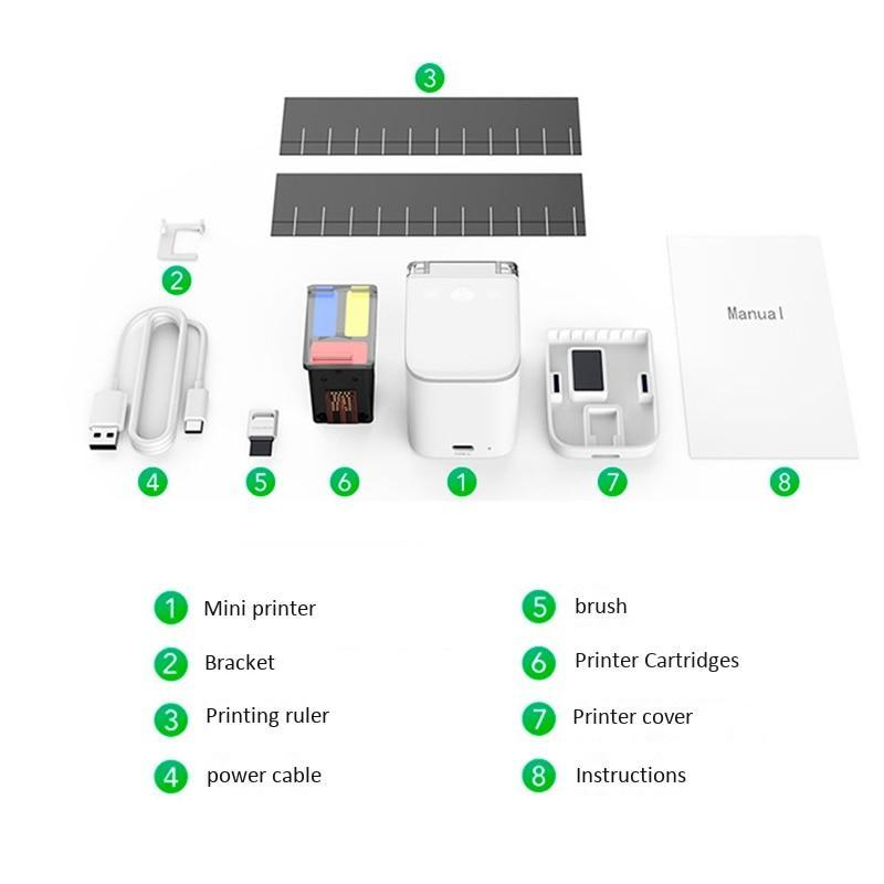 PalmPrint - Portable Handheld Inkjet Mobile Color Printer