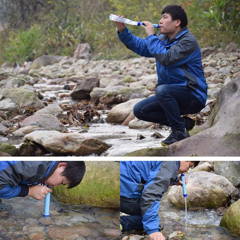 Personal Water Filter Straw - Water Purifier Camping Hiking Emergency Life Survival