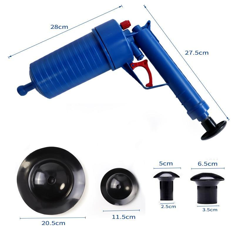 Plunger Cleaner Kit Powerful Drain Blaster Gun Clog Dredger Remover
