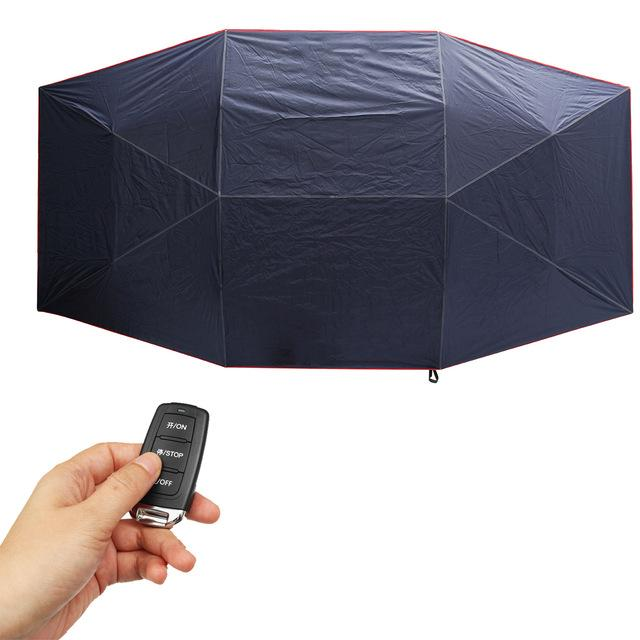 Portable Automatic Car Umbrella Cover - Dark Blue