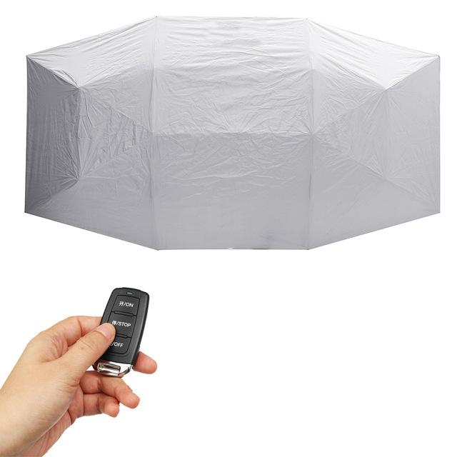 Portable Automatic Car Umbrella Cover - Silver